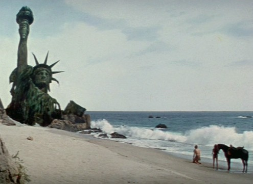 Ruin of the Statue of Liberty from Planet of the Apes